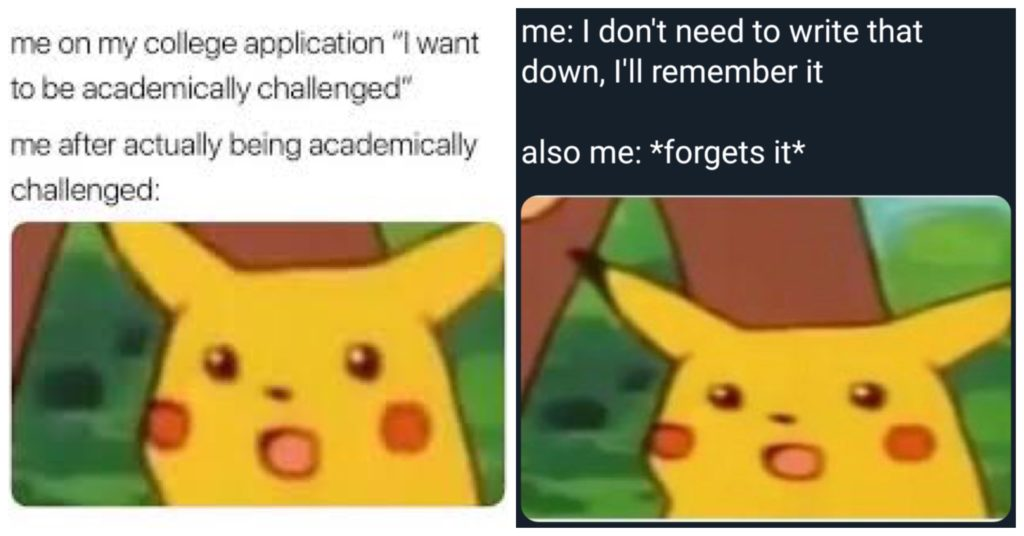 The startled Pikachu meme.