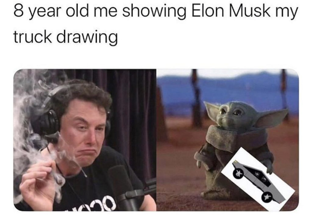 2018 Elon Musk meme and baby Yoda meme joined forces in 2019.
